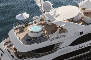 Motor Yacht CHECKMATE. -  Sundeck from above