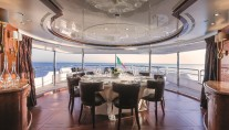 Motor Yacht CHECKMATE. -  Upper Aft Deck Dining
