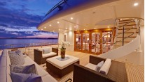 Motor Yacht Calliope - aft deck at sunset