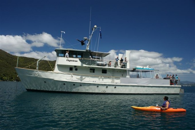 Motor yacht Flightless (Ex NZ warship Moa)