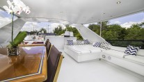 Motor Yacht IL CAPO - Upper deck dining
