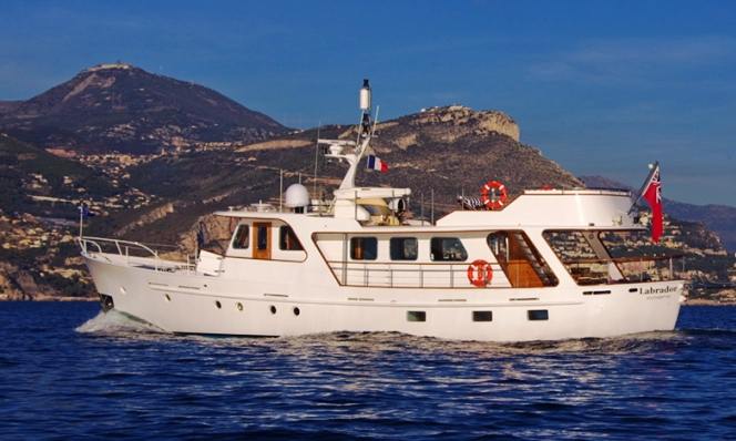 Fishing boat here classic steel motor yacht for sale for Vintage motor yachts for sale