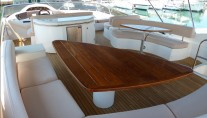 Motor Yacht LUCKY BEAR -  Flybridge al fresco dining