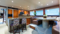 Motor Yacht OASIS- Forward galley seating