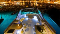 Motor Yacht PANDION - Sundeck by night