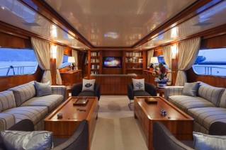 Motor Yacht SELULA -  Main Salon looking Forward