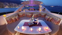 Motor Yacht TOLD U SO -  Evening on the Top Deck