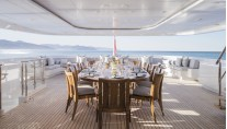 Motor Yacht TURQUOISE - Informal Lunch Main Deck Aft