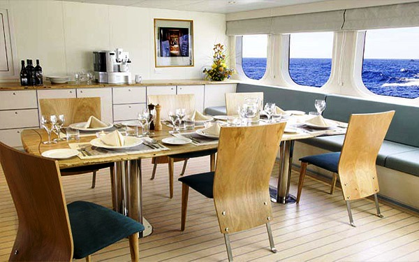 Motor Yacht True North  Dining Room