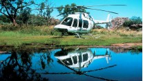 Motor Yacht True North  Heli reflection