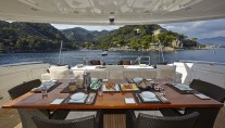 Motor yacht ANTELOPE III - Aft Deck Dining