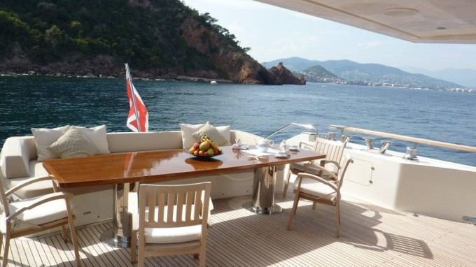 Motor yacht ARION -  Aft Deck Al Fresco Dining