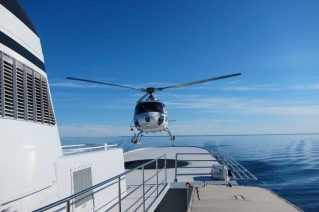 Motor yacht ASTERIA -  helicopter Landing