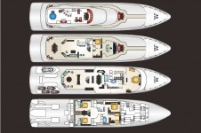 Motor yacht AT LAST - Layout