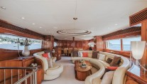 Motor yacht BEIJA FLORE Salon view forward