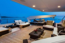 Motor yacht BRAZIL - Upper deck evening shot