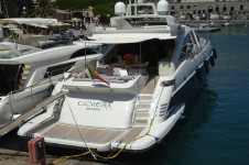 Motor yacht CHIMERA -  Stern to in port