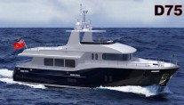 Motor yacht D75 Explorer by Dauntless Yachts