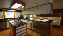 Motor yacht DAYDREAM -  Dining table in Galley
