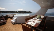 Motor yacht DAYDREAM -  Top Deck Dining and Spa Pool