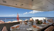 Motor yacht DENIKI - Bridge Deck Al Fresco  Dining