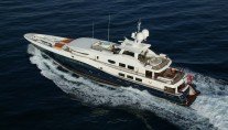 Motor yacht DENIKI - From Above