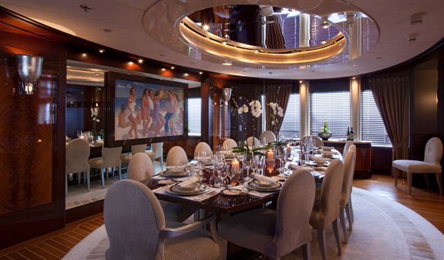 Motor yacht DREAM -  Formal Dining
