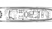 Motor yacht Don Carlo -  Main Deck Layout