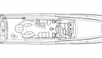 Motor yacht Don Carlo -  Top Deck Layout