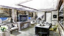 Motor yacht EVENT -  Master Cabin Office
