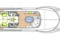 Motor yacht EVENT -  Sun deck Layout