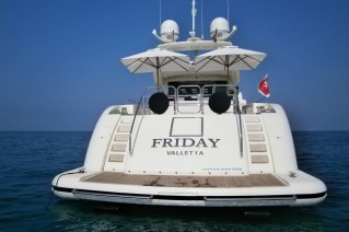 Motor yacht FRIDAY -  Aft View.JPG