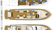 Motor yacht HAPPY FEET - Layout