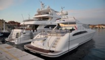 Motor yacht IROCK -  In port with passerelle