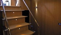 Motor yacht K BLU -  Stairs to accommodation