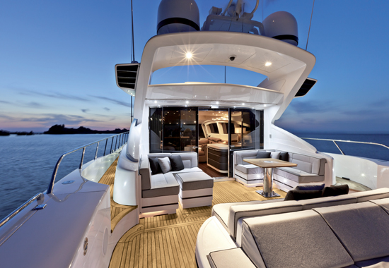Motor yacht KAWAI -  Aft Deck at Night