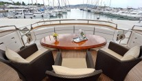 Motor yacht LADY MARCELLE - Aft Deck Al fresco Dining