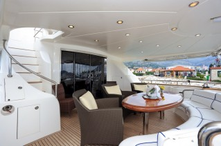 Motor yacht LADY MARCELLE - Aft Deck