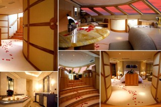 Motor yacht LAZY Z - Master Cabin Detials