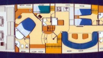 Motor yacht LULU -  Accommodation Layout