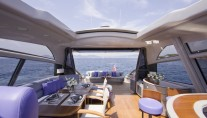 Motor yacht LULU -  Main Deck Salon looking Aft