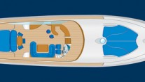 Motor yacht LULU -  Main deck Layout
