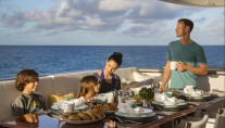 Motor yacht MARCATO - Aft deck alfresco dining