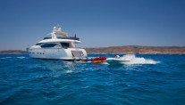 Motor yacht MEME -  Aft View with Tender