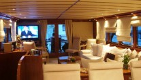 Motor yacht MONACO -  Salon looking Aft