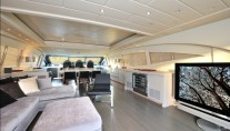Motor yacht MOSKING - Salon Main Deck TV