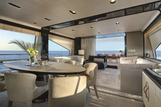 Motor yacht NORTH STAR - Dining and Salon