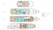 Motor yacht ORIENT STAR - Layout of decks