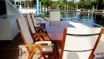 Motor yacht PARADISE -  Aft Deck dining