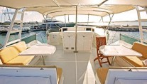 Motor yacht PIXEL -  Flybridge Dining area
